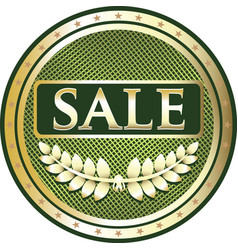 Sale gold icon vector
