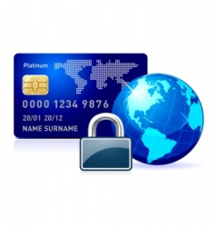secure online payment vector image