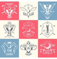 Set of Golf Logo Labels and Emblems vector image vector image