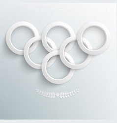Sport background paper rings vector image