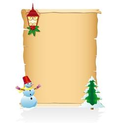 vintage christmas blank scroll 04 vector image vector image