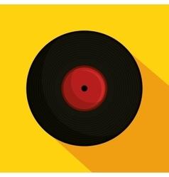 vinyl retro music icon vector image