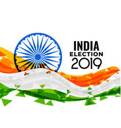 2019 indian loksabha election design vector