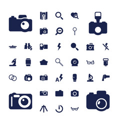 37 lens icons vector
