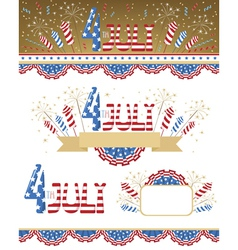 4th July elements vector