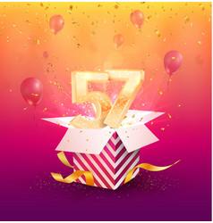 57th years anniversary design element vector