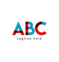Abc template design vector