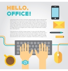 about office or coworking life with vector image