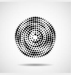 Abstract dotted circles dots in circular form vector