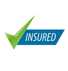 Abstract icon for an insurance company vector