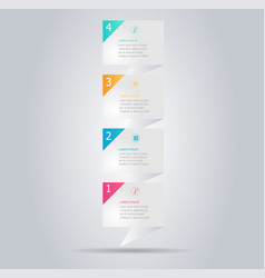 Abstract modern banner infographic vertical vector