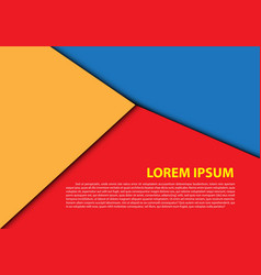 abstract red yellow blue overlap vector image