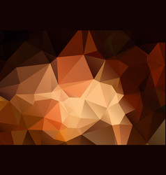 abstract shades brown polygonal background vector image