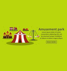 amusement park banner horizontal concept vector image