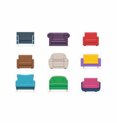Armchairs set vector