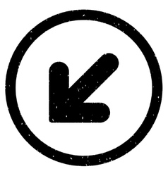 Arrow Down Left Icon Rubber Stamp vector image