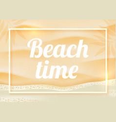 beach sand on ocean coast sea azure wave vector image