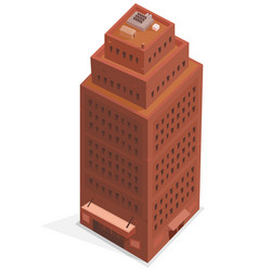 big business isometric building vector image