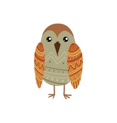 Bird Wearing Tribal Clothing vector