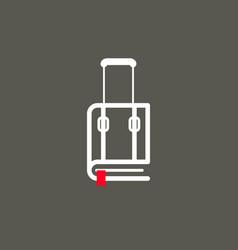 book suitcase symbol vector image
