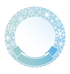 border and ribbon from colored snowflakes vector image