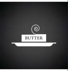 Butter icon vector image