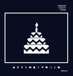 Cake symbol icon vector