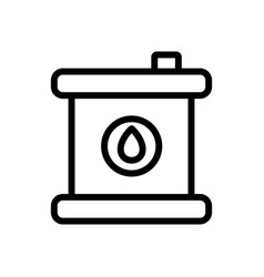Chemical grease in can icon outline vector