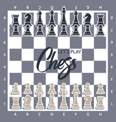 chess board with figures wector of vector image