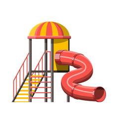 Childrens slide with ladder and roof vector