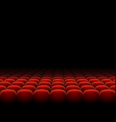 cinema theater red seats row set on a dark vector image