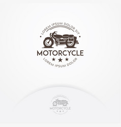 classic motorcycle logo design vector image