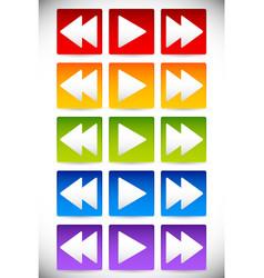 Colorful backward play and forward - fastforward vector