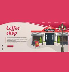 Concept banner coffee shop shop interface vector