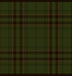 dark green tartan plaid scottish pattern vector image