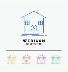 deposit safe savings refund bank 5 color line web vector image