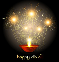 diwali crackers vector image