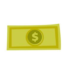 dollar money banknote cartoon vector image