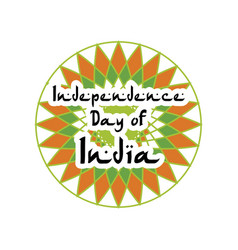 Festive of independence day of india vector