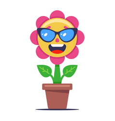 Flower blooms and sunbathes in sun plant vector