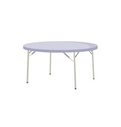 foldable round table isolated on white background vector image