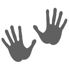 gray hands vector image