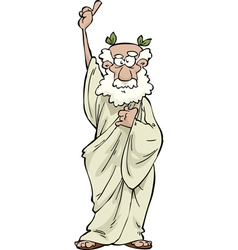 greek philosopher vector image