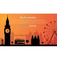 Header Template London scenery vector image