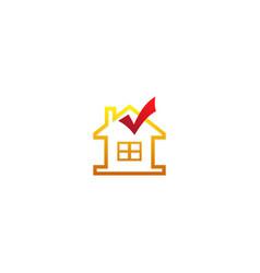 House check mark sold logo vector