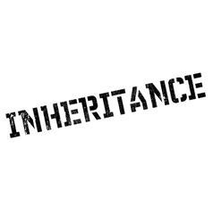 Inheritance rubber stamp vector