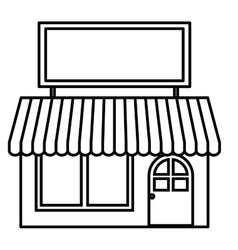 Isolated small store design vector