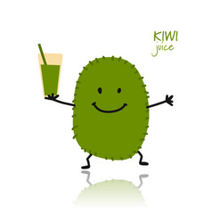 Kiwi cute character for your design vector