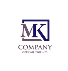 Letter mk logo vector