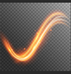 light glow effect swirl line trail magic vector image